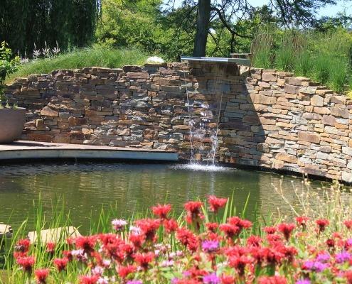 kleurrijke luxe tuin