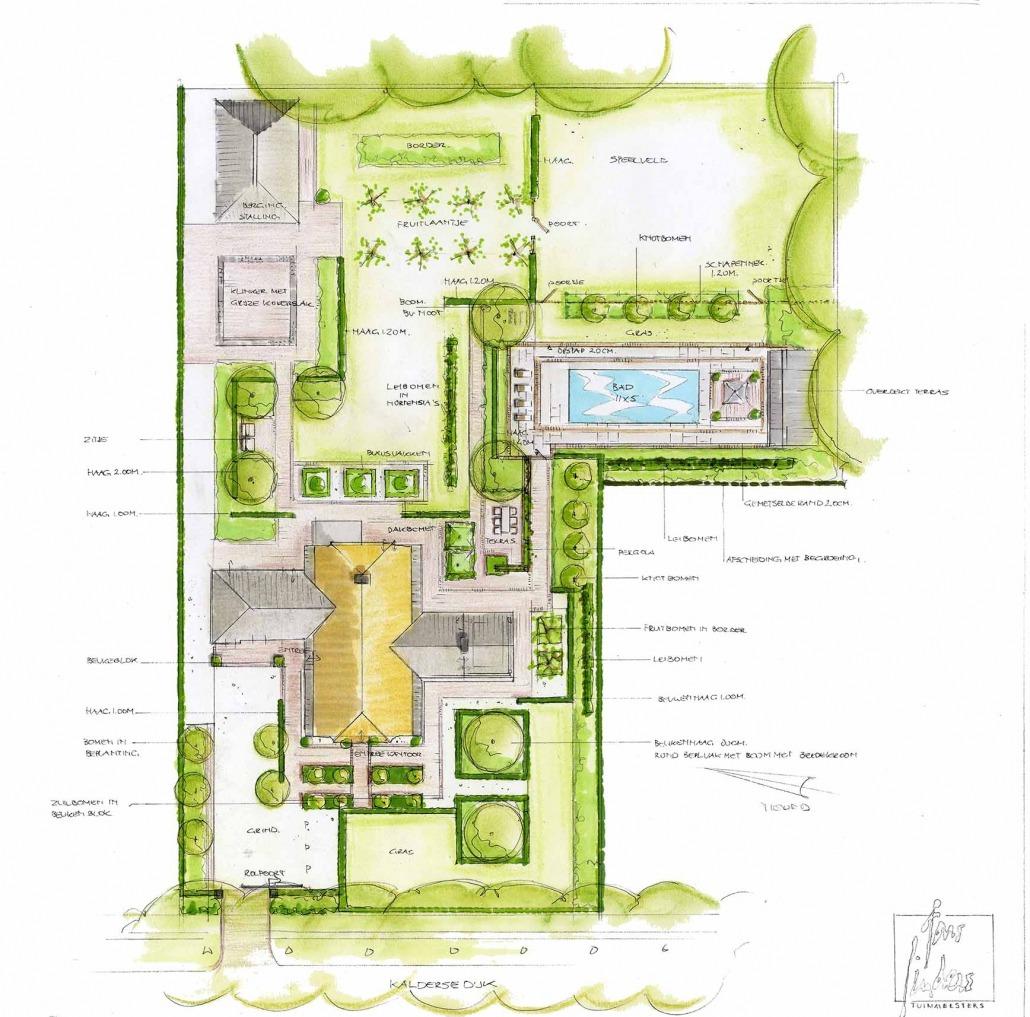 Exclusieve tuin ontwerp